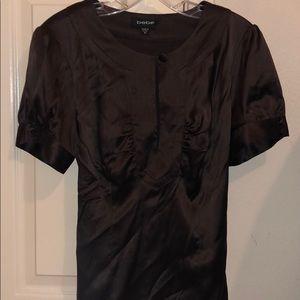 Bebe silk brown shirt